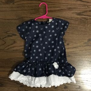 Calvin Klein denim and lace dress. Size 18 months